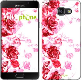 """Чехол на Samsung Galaxy A7 (2016) A710F Нарисованные розы """"724u-121"""""""