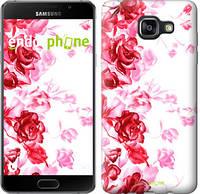 """Чехол на Samsung Galaxy A5 (2016) A510F Нарисованные розы """"724c-158"""""""