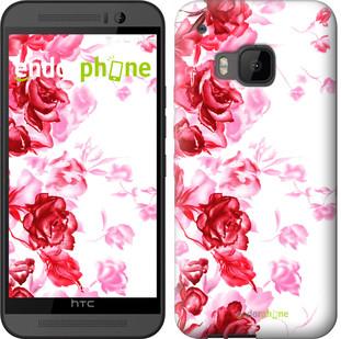 "Чехол на HTC One M9 Нарисованные розы ""724u-129"""