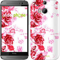 "Чехол на HTC One M8 Нарисованные розы ""724c-30"""