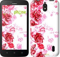 """Чехол на Huawei Ascend Y625 Нарисованные розы """"724u-161"""""""