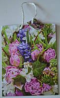 Подарочный пакет, 23×18×10 см / цветы 5