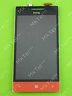Дисплей HTC 8S Rio A620e с сенсором Оригинал элем. Красный