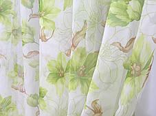 """Набор гардин """"Лилия зеленая"""" (3 гардины + магниты в подарок), фото 2"""