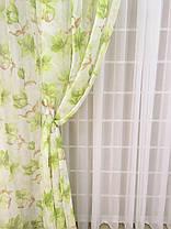 """Набор гардин """"Лилия зеленая"""" (3 гардины + магниты в подарок), фото 3"""
