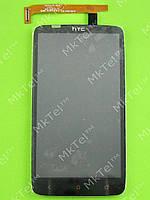 Дисплей HTC One X plus S728e с сенсором Оригинал элем. Черный