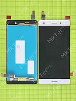 Дисплей Huawei P8 Lite с сенсором Оригинал элем. Белый