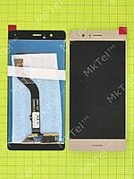 Дисплей Huawei P9 Lite с сенсором Оригинал элем. Золотистый
