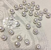 Бусины жемчужные средние белого цвета, 50 шт, размер 10 мм,