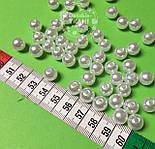 Бусины жемчужные средние белого цвета, 50 шт, размер 10 мм, , фото 2