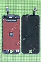 Дисплей iPhone 6 с сенсором, рамками датчиков Копия АА Черный