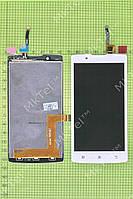 Дисплей Lenovo A2010 с сенсором, белый self-welded
