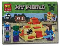 """Конструктор Bela Minecraft (Майнкрафт) 10191 """"2в1"""", 66 дет"""