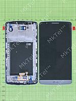 Дисплей LG G3 D855 с сенсором, панелью Копия АА Серый