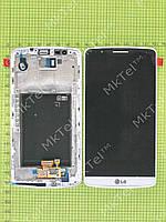 Дисплей LG G3 D855 с сенсором, панелью Копия АА Белый