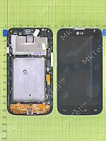 Дисплей LG L70 Dual D325 с сенсором, панелью Оригинал Китай Черный