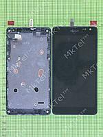 Дисплей Lumia 535 Dual SIM с сенсором, панелью Оригинал элем. Черный