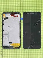 Дисплей Lumia 640 Dual SIM с сенсором, панелью Копия АА Черный