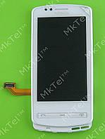 Дисплей Nokia 700 с сенсором, панелью Оригинал Белый