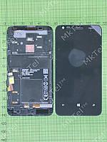 Дисплей Nokia Lumia 620 с сенсором, панелью Оригинал Китай Черный