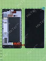 Дисплей Nokia Lumia 730 Dual SIM с сенсором, панелью Оригинал Черный