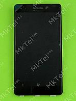 Дисплей Nokia Lumia 800 с сенсором Оригинал элем. Черный