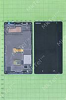 Дисплей Nokia X2 Dual SIM с сенсором, панелью Оригинал Китай Черный