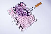 Решетка-гриль,для мангала,барбекю,плоская Stenson 59×40×30 см №0162