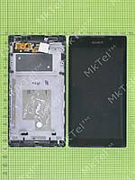 Дисплей Sony Xperia C C2305 S39h в сборе Оригинал Б/У Черный