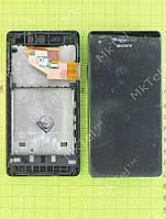 Дисплей Sony Xperia V LT25i с сенсором, панелью Оригинал элем. Черный