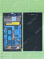 Дисплей Sony Xperia Z1 C6902 в сборе Оригинал Б/У Черный
