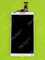 Дисплей Sony Xperia ZL C6502 L35h с сенсором Оригинал Китай Белый