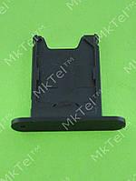 Держатель SIM карты Nokia Lumia 920 Оригинал Черный