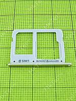 Держатель SIM/microSD Samsung Galaxy A3 A310 Оригинал Китай Золотист.