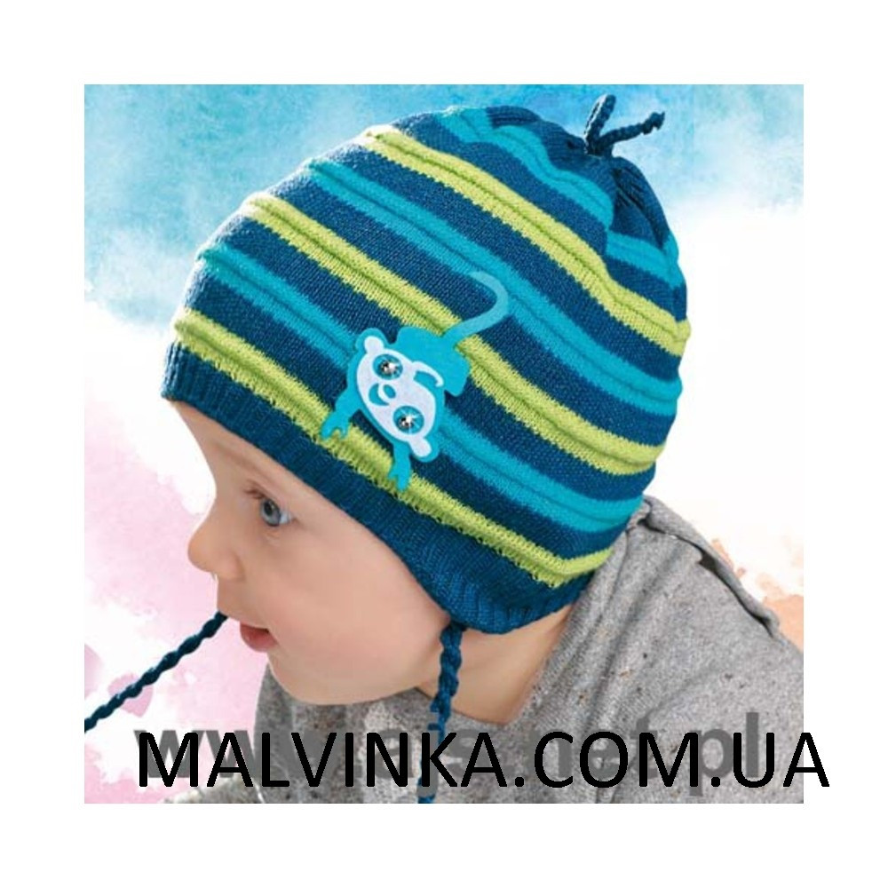 Шапка на хлопчика AJS 28-029 демісезонна сіра Польща