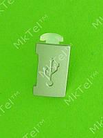 Заглушка разъема USB Nokia X3-00, серебристый, Оригинал #9444678
