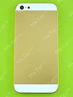 Задняя крышка iPhone 5 Копия АА Золотист. с белым
