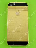 Задняя крышка iPhone 5 с кнопками с камнями Оригинал Китай Золотистый