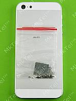 Задняя крышка iPhone 5 с кнопками, шлейфами Оригинал Китай Белый