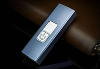 Зажигалка электрическая с дуговым поджигом в металлическом корпусе в виде USB флэшки ТЕМНО-СЕРАЯ SKU0000602