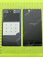 Задняя крышка Sony Xperia Z C6602 с скотчем Копия АА Черный