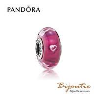 Pandora шарм ВИШНЕВЫЙ САД МУРАНО #791664PCZ серебро 925 Пандора оригинал