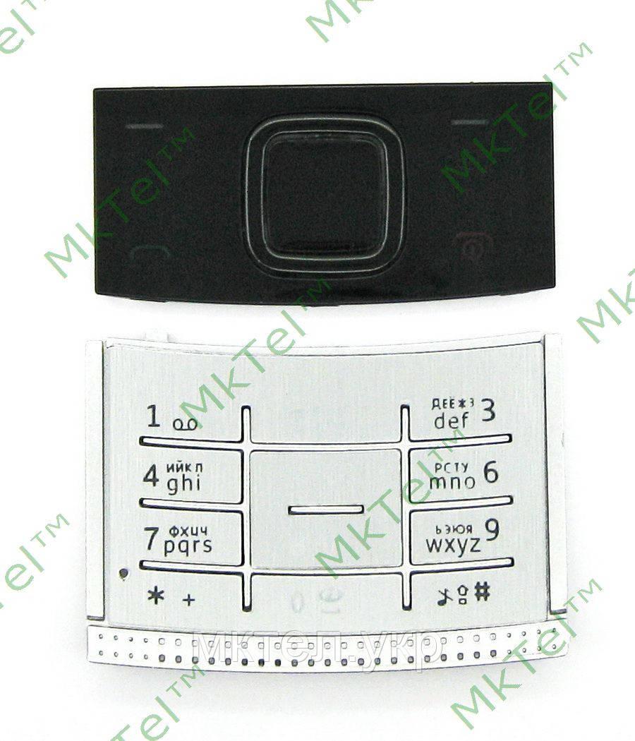 Клавиатура Nokia X3-00, комплект, серебристый copyAA