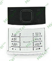 Клавиатура Nokia X3-00, комплект Копия АА Серебристый