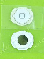 Кнопка Home iPod Touch 4Gen с мембраной Оригинал Европа Белый