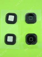 Кнопка Home iPod Touch 5Gen с мембраной Оригинал Европа Черный