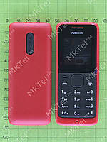 Корпус Nokia 105 в сборе, клавиатура без кирилицы Копия Красный