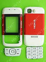 Корпус Nokia 5200, 5 частей с клавиатурой Оригинал Красный