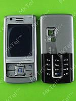 Корпус Nokia 6280, 2 части с клавиатурой Копия АА Серебрист.
