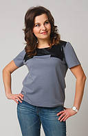 Блуза большого размера со вставкой